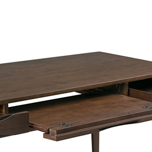 Simpli Home 3AXCHRP-10 Harper Solid Hardwood Mid Century Modern 60 inch Wide Writing Office Desk in Walnut Brown