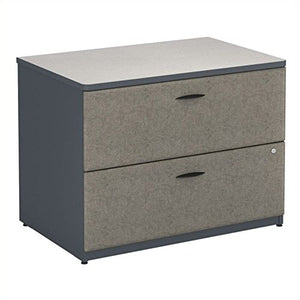 Bush Business Furniture WC84854P Series A Collection 36W 2Dwr Lateral File, Slate/White Spectrum