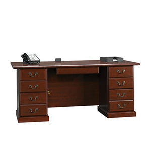 Sauder 109843 Heritage Hill Executive Desk, Classic Cherry Finish