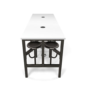 OFM 9008-DVN-WHT Model 9008 Endure Series Standing Height 8 Seat Table, 38'' Height, 31.25'' Width, 95.25'' Length, Dark Vein/White
