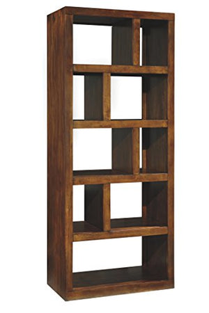 Ashley Furniture Signature Design - Lobink Bookcase - 9 Storage Different Size Cubbies - Brown Finish