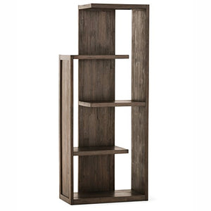 Simpli Home AXCMON-05 Monroe Solid Acacia Wood 72 inch x 30 inch Rustic Bookcase in Distressed Charcoal Brown