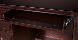 Martin Furniture  Fulton Computer Credenza, Fully Assembled, Brown