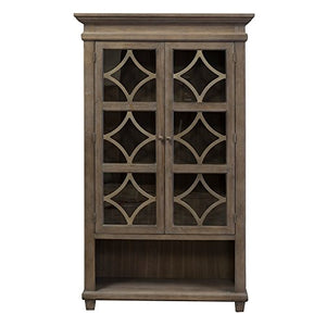 Martin Furniture IMCA4270 Glass Display Cabinet, Weathered Dove