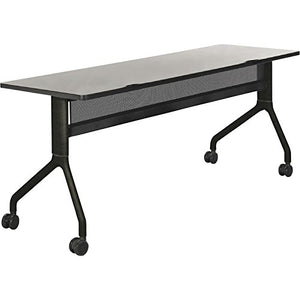 Safco Rumba Rectangular Nesting Table — 72in. x 24in., Gray/Black, Model# 2043GRBL