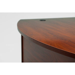 Bush Business Furniture Series C 72W x 36D Bow Front Desk in Hansen Cherry