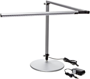 Koncept AR3000-W-SIL-DSK Z-Bar LED Desk Lamp, Warm Light, Silver