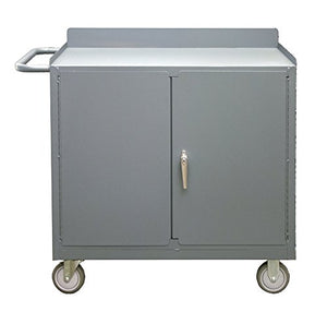 "Durham 2210A-LU-95 Mobile Workstation Lockable Storage Compartment, 36"" Wide, 1200 lb Capacity"