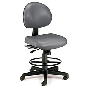 "Ofm Continuous-Use Seating - Stool - 27-31"" Seat Height - Charcoal Vinyl - Charcoal Vinyl"