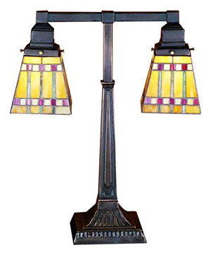 "Meyda Tiffany 24286 Lighting 19.5"" Height Bronze/Dark"