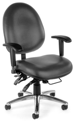 OFM 24/7 Vinyl Chair, Charcoal