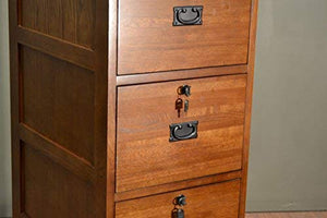 Crafters and Weavers Mission Oak 4 drawer File Cabinet Office Cabinet