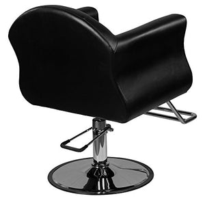 "Avondale""Young"" Black European Salon Styling Chair, Round Base, U Shaped Footrest"