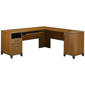 Bush Furniture Achieve L-Desk in Warm Oak