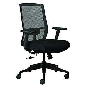 Safco Products GS22SVRBLK Gist Chair, Black/Silver