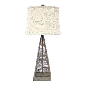 Teton Home TL-023 Metal Table Lamp