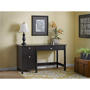 Bush Furniture Broadview Computer Desk with Drawers in Espresso Oak