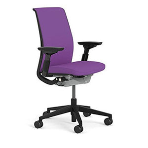 Steelcase Think Chair (R) - Matching Back and Seat Fabric by Steelcase, fabric = Cogent Concord; frame/base = Black/Black