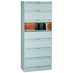Tennsco FS371LLGY Closed Fixed Shelf Lateral File, 36w x 16 1/2d x 87h, Light Gray