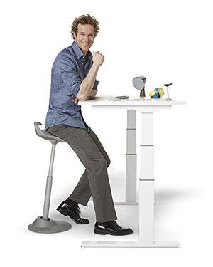 Via Motion Seating Muvman Sit-Stand Stool (Grey seat/Grey base)