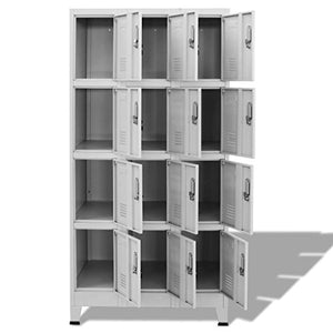 "Festnight Office Tall Steel Locker Storage Cabinet Metal File Cabinet with Lockable Door, 12 Compartments 35.4"" x 17.7"" x 70.9"""