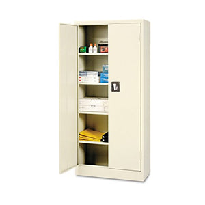 Alera ALECM6615PY Space Saver Storage Cabinet, Four Shelves, 30w x 15d x 66h, Putty