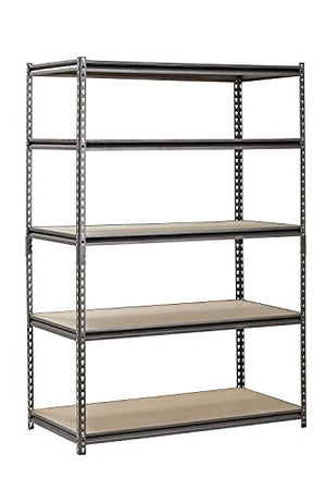 "Muscle Rack UR482472PB5PAZ-SV Silver Vein Steel Storage Rack, 5 Adjustable Shelves, 4000 lb. Capacity, 72"" Height x 48"" Width x 24"" Depth (Pack of 4)"