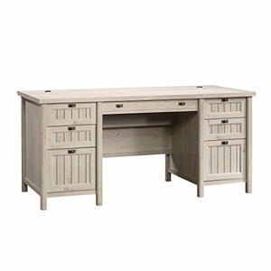 Sauder 419954 Costa Executive Desk, Chalked Chestnut Finish