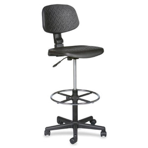 Balt Trax Adjustable Stool, 18-1/2-Inch by 18-1/2-Inch by 37 to 47-Inch, Black