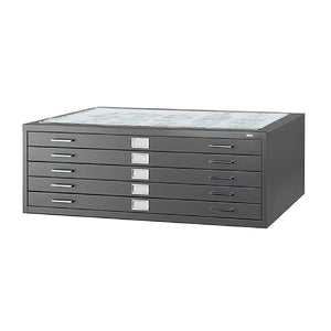 "Safco Products 4996BLR Flat File for 42""W x 30""D Documents, 5-Drawer (Additional options sold separately), Black"