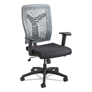 Safco Products 5085CH Voice Plastic Back Task Chair, Charcoal