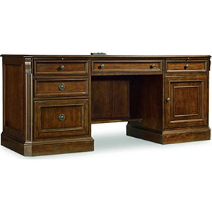 Hooker Furniture Brookhaven Computer Credenza in Cherry