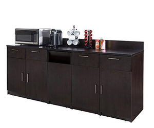 "Coffee Break Lunch Room Furniture Fully Assembled""Ready-to-Use"" 3pc Group BREAKTIME Model 2724 - Elegant Espresso Color Instantly Create Your New Coffee Break Lunch Room!!!"
