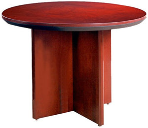 "Mayline CTRNDCRY Napoli 42""Dia. Round Conference Table, Sierra Cherry Veneer"