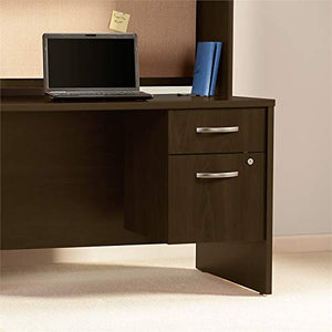 "Bush Business Furniture Series C Elite 48"" by 30"" Desk Shell with 3/4"" Pedestal, Mocha Cherry"