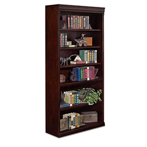 "Huntington Club Six Shelf Traditional Bookcase - 72"" H Huntington Cherry Dimensions: 36""W x 13""D x 72""H Weight: 171 lbs."