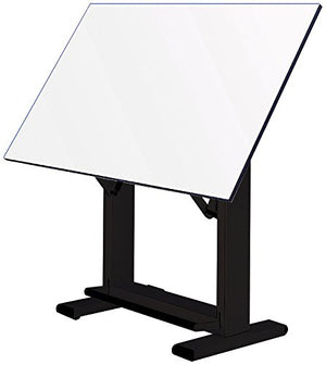 "Alvin ET72-3 Elite Table, Black Base White Top (37.5"" x 72"")"