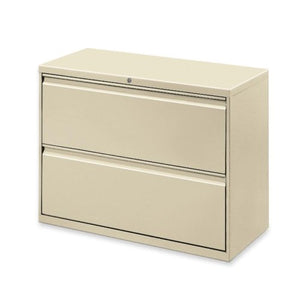 Lorell 2-Drawer Lateral File, 36 by 18-5/8 by 28-1/8-Inch, Putty