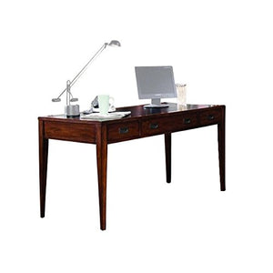 Hooker Furniture Danforth Executive Leg Desk in Rich Medium Brown