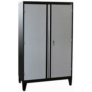"Sandusky Lee GF3F462472-M9L Modular System Jumbo Storage Cabinet, 46"" Width x 24"" Diameter x 79"" Height, Black/Multi Granite"