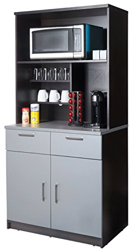 Coffee Break Lunch Room Furniture FULLY ASSEMBLED Ready To Use 2pc Group Breaktime Model 3250 Espresso/Grey color INSTANTLY create your new Coffee Break Lunch Room!! (Includes Furniture Cabinets Only)