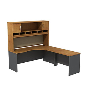Series C 72W Right Hand Corner L Desk with 72W 2-Door Hutch