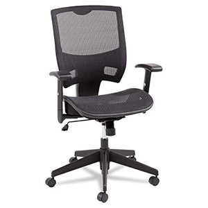 Alera ALEEP4218 Epoch Series All Mesh Multifunction Mid-Back Chair, Black
