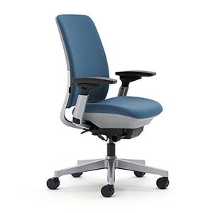 Steelcase Amia(R) Ergonomic Work Chair by Steelcase, fabric = Sky; frame/base = Platinum/Platinum