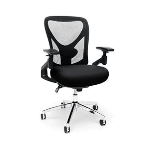 "OFM 257-BLK 24-Hour Big & Tall Mesh Chair, black Office Chair, 36"" Height, 28"" Wide, 27"" Length"