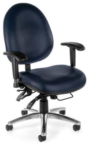 OFM 24/7 Vinyl Chair, Navy