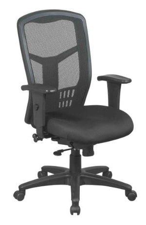 Office Star High Back ProGrid Back FreeFlex Seat with Adjustable Arms, 3-Position Locking 2-to-1 Synchro Tilt Control and Seat Slider, Black Managers Chair