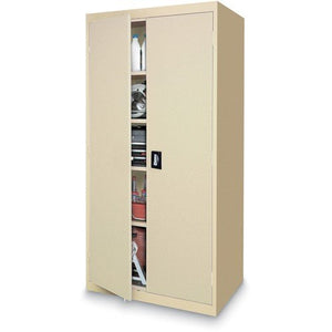 "Sandusky Lee EA4R362478-07 Welded Steel Elite Storage Cabinet with Adjustable Shelves, 24"" Length x 36"" Width x 78"" Height, Putty"