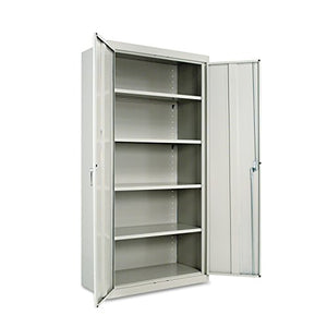 "Alera ALECM7218LG Assembled 72"" High Storage Cabinet, w/Adjustable Shelves, 36w x 18d, Light Gray"