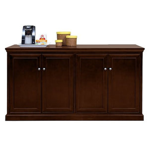 "Buffet Storage Credenza with Espresso Finish - 68"" W x 24"" D, NBF Signature Series Extendable Tables Collection"